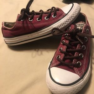 Maroon Converse All Star toddler low top sneaker